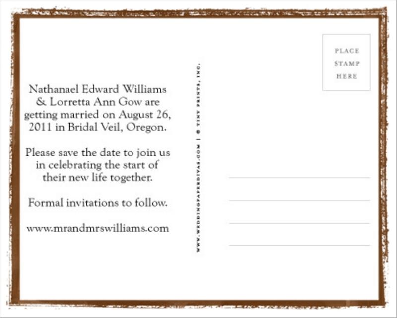 Save The Dates! – 1/19/11 – Mr. & Mrs. Williams